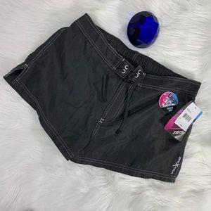 NWT ZeroXPosur Black Size 12 Swimwear Shorts  Q395